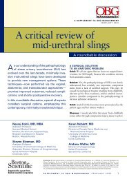 A critical review of mid-urethral slings - OBG Management