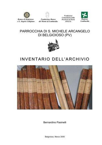 Inventario Archivio Storico della Parrocchia di Belgioioso ... - ASiM