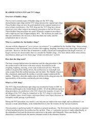 BLADDER SLINGS (TOT and TVT slings) Overview of bladder slings ...