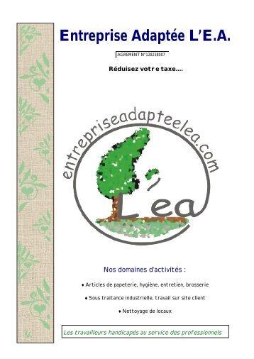 Catalogue de commande - ENTREPRISE ADAPTEE L'EA