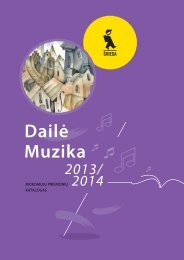 Dailės ir muzikos mokomųjų priemonių katalogas 2013 ... - Šviesa