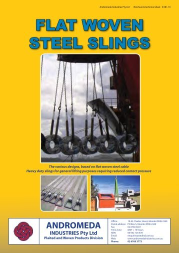 FLAT WOVEN STEEL SLINGS - Plaited And Woven Wire