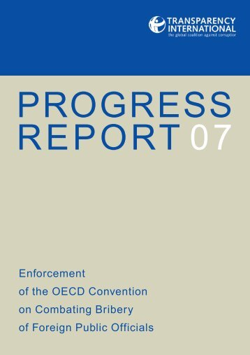 Enforcement of the OECD Convention on Combating Bribery of ...
