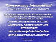 Vortrag - Transparency International