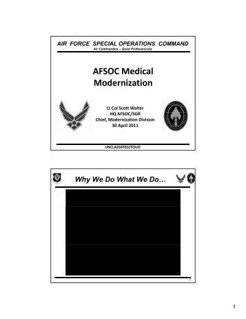 AFSOC Medical Modernization - Telemedicine & Advanced ...