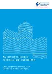 Nachhaltigkeitsberichte deutscher grossuNterNehmeN