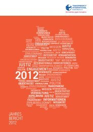 Jahresbericht 2012 - Transparency International