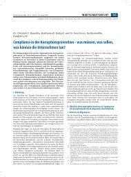 Compliance in der Korruptionsprävention - Transparency International