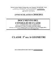 CLASSE 5 sez. b GEOMETRI - Itcgassisi.It