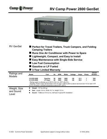 RV Camp Power 2800 GenSet - Colorado Standby LLC