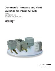 Commercial Pressure and Float Switches for ... - Schneider Electric