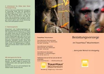 Informationen zur Vorsorge - TrauerHaus.de