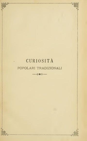 Curiosità popolari tradizionali - Centrostudirpinia.it