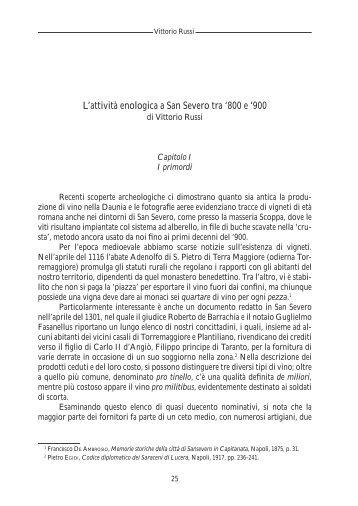 L'attività enologica a San Severo tra '800 e ' - Biblioteca Provinciale ...