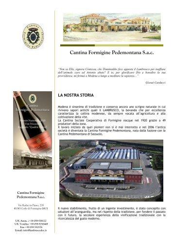 Brochure di presentazione: la cantina ed i vini - ItaliaDelVino.com