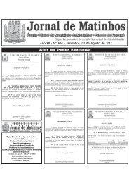 03/08/2012 Diário Oficial de 03 de Agosto de 2012 - Matinhos