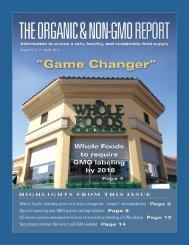 Non-GMO Source Nov04 - The Organic & Non-GMO Report