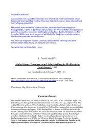 L. David Mech[1]: Alpha-Status, Dominanz und ... - Tierheim Feucht