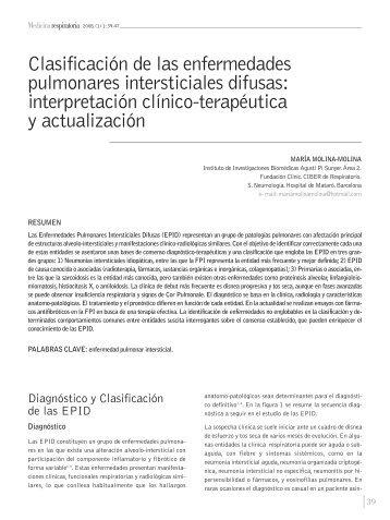 Clasificación de las enfermedades intersticiales difusas