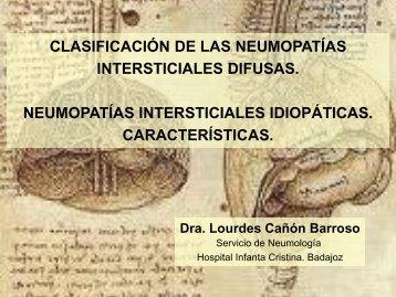 CLASIFICACIÓN DE LAS NEUMOPATÍAS INTERSTICIALES ...