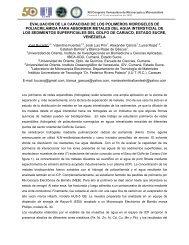 evaluacion de la capacidad de los polimeros ... - Acta Microscopica