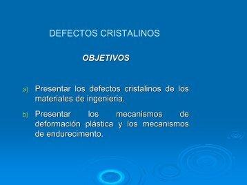 defectos de los cristales pdf