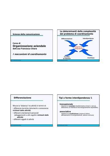 06.I meccanismi di coordinamento2 - Lettere e Filosofia