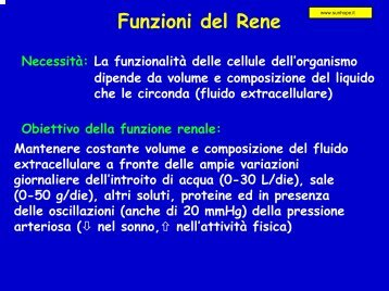 Funzioni del Rene - SunHope