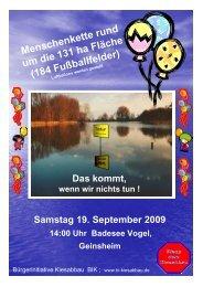 Samstag 19. September 2009 14:00 Uhr Badesee Vogel, Geinsheim