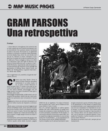 GRAM PARSONS Una retrospettiva - Late For The Sky