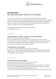 Das Mercedes-Benz Museum im Frühjahr