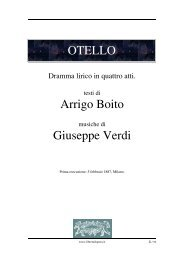OTELLO Arrigo Boito Giuseppe Verdi - Fulmini e Saette