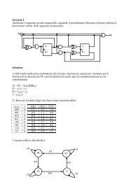 Esercizio 1 Analizzare il seguente circuito sequenziale ... - TWiki