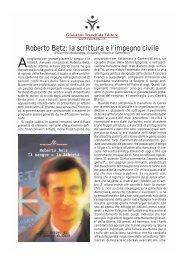 Roberto Betz: la scrittura e l'impegno civile - Giovanni Tranchida ...