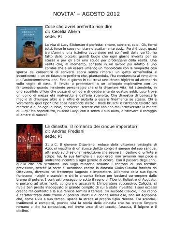 novità agosto 2012 - Comune di Pianoro