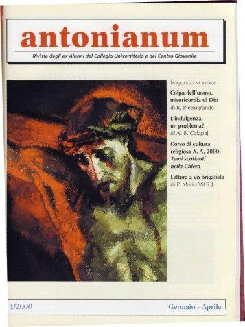 1/2000 Gennaio - Aprile - Ex-Alunni dell'Antonianum