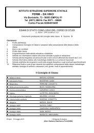 Doc. 15 maggio 5S - Istituto di Istruzione Superiore Enrico Fermi