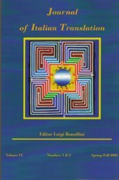 Journal of Italian Translation - Brooklyn College - Academic Home ...