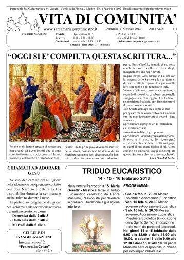 27 Gennaio 2013 - Parrocchia S. Maria Goretti