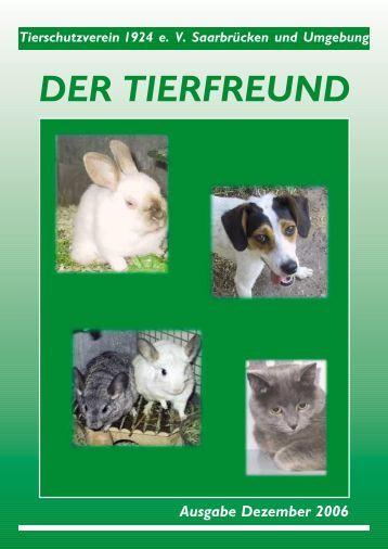 Ausgabe 12/2006 - Tierschutzverein 1924 e.V.