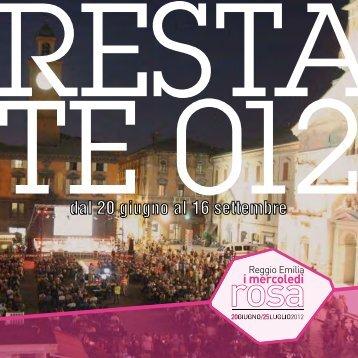 Programma Restate.pdf - Comune di Reggio Emilia