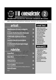 N. 2 del 10 gennaio 2004 30 il consulente 1081 - Ancl