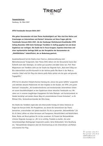 Konsum-Ethik 2007 [pdf] - Trendbüro