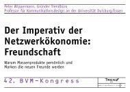 Der Imperativ der Netzwerkökonomie: Freundschaft - Trendbüro