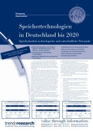 Speichertechnologien in Deutschland bis 2020 - trend:research
