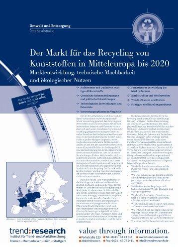 Der Markt für das Recycling von Kunststoffen in ... - trend:research