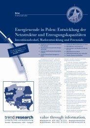Energiewende in Polen: Entwicklung der ... - trend:research
