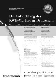 Die Entwicklung des KWK-Marktes in Deutschand - trend:research