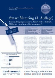 Smart Metering (3. Auflage) - trend:research