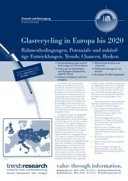 Glasrecycling in Europa bis 2020 - trend:research
